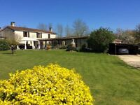 France - Established Holiday letting 3 houses, indoor pool, function room, barns for Sale or Swop