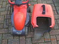 Flymo Rollermo Lawn mower grass cutter electric corded with grass box and blade.