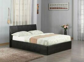 ⭐FACTORY SALE FAUX LEATHER SINGLE/DOUBLE/KINGSIZE OTTOMAN STORAGE BED FRAME WITH MATTRESS OF CHOICE