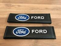 2X Seat Belt Pads Carbon Gift Ford Kuga Mondeo Fiesta Focus ST RS CS Escort