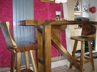 Kitchen bench (table) with 2 high stools