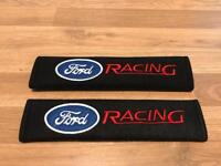 2X Seat Belt Pads Gift Ford Focus Mondeo Fiesta Kuga ST RS C S Race Tuning Sport Racing Turbo