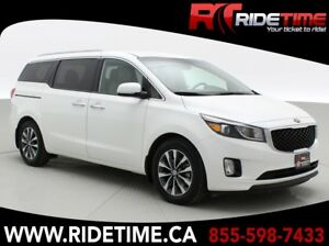 2016 Kia Sedona SX - Heated Leather Front, Rear Seats  Steering