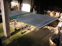 Tabble Tennis table, full size, sound condition except stitching on net at one end.