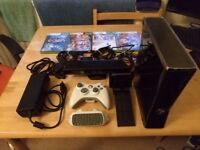 Latest generation Xbox 360 (250GB hard drive) with Kinect and 4 games