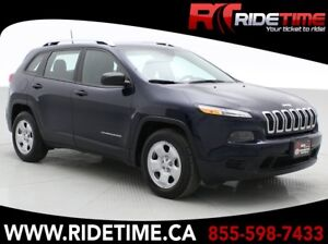 2016 Jeep Cherokee Sport 4WD - Automatic, Remote Start, Backup C