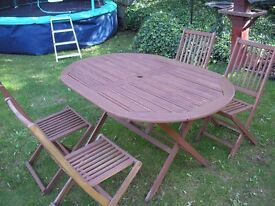 Garden Table and Chairs Folding