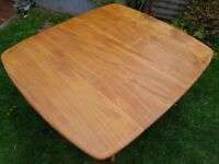 Ercol (no label) Elm extending dining table