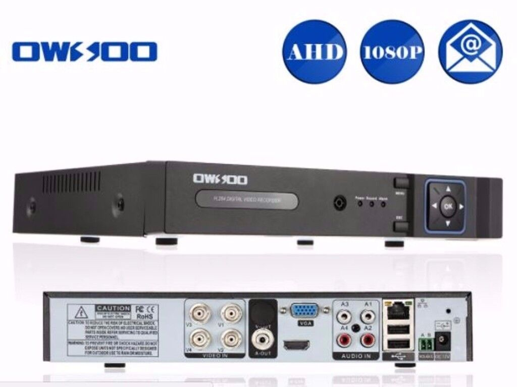 OWSOO 4CH AHD DVR Video Recorder H.264 P2P Cloud 4 Channel Digital Video With 500gb Hard Drive