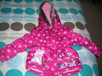 Peppa Pig Winter Coat 2- 3 Year Old