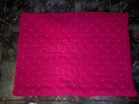 Pink Single Bed Throw