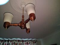 Ceiling light and 2 wall lights