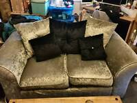 crushed velet three seater and two seater sofa set