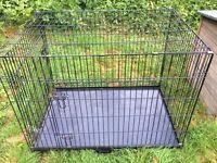 XL double door dog crate