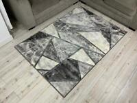 Silver Marble Effect Rug 2769