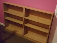 Two Matching Shelving Units 2 Book shelves