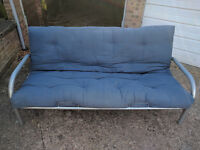 "Metal Futon Frame and 4' 6"" Double Futon"