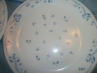 "CORELLE Corning PROVINCIAL Blue 8 Dinner Plates 10 1/4"" on Rummage"