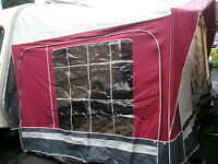 Seasonal Caravan Awning. Viscount 840 cm in Wine/Grey acrylic. For a 14>14.5 ft caravan. No Poles.