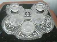 Vintage cut glass dressing table sets