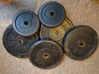 YORK WEIGHTS - 50KG + Free Barbell!!