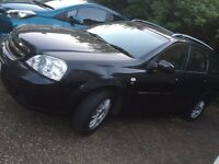Manual black Chevrolet LACETTI 2006 estate in surrey/walton on thames