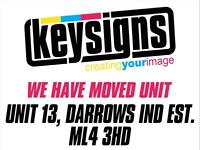 Keysigns Bellshill Van Truck bus Graphics, Sign makers, Shop Signs Design & Installation,
