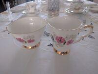 Royal stafford bone china jug and sugar bowl.