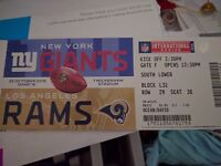 Nfl ticket la rams v new york giants spare ticket !
