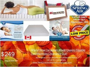 Additional 20%-50% OFF On all Canadian Made Mattress for Clearance Items@New Direction Home Furnishings