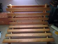 Double futon base with free mattress