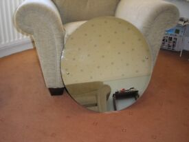Round mirror with fittings. Very good condition. £5