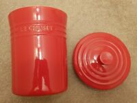 Le Creuset Stoneware Storage Jar Canister Large 3.8L- Red