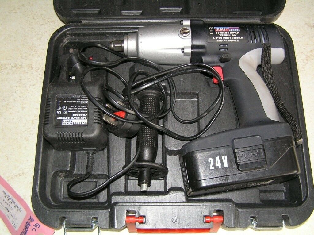 Sealey Cp2400 V2 1 2 24 Volt Cordless Impact Wrench With Charger And Case