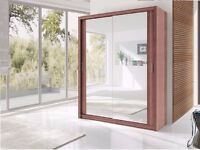 BRAND NEW BERLIN 2 DOOR SLIDING #WARDROBE WITH FULL MIRROR -EXPRESS DELIVERY