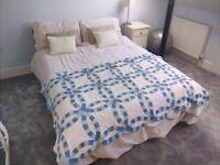 Warren Evans Short Wooden Double Bed & Mattress