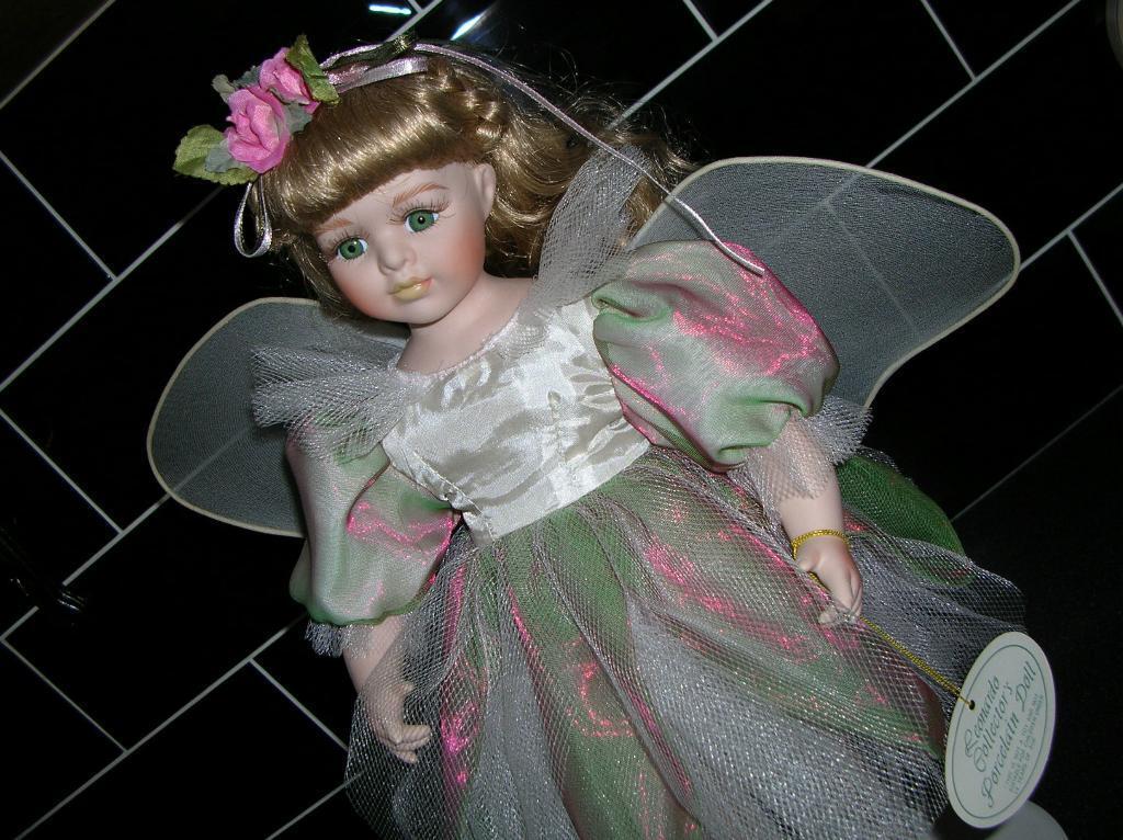 Heliotrope Flower Fairy Flower Fairy China Doll on Stand Leonardo