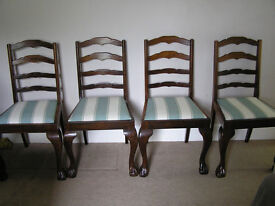 Antique solid wood dining room chairs