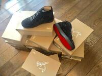 Christian Louboutin black suede high tops