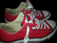 Trainers red converse all stars