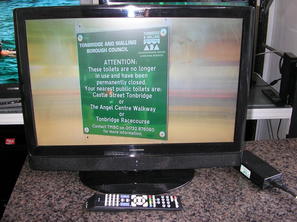 """GRUNDIG 22"""" LCD TV/DVD 12V"""