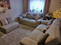 Kirby oak furniture land sofa set