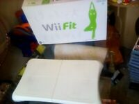 Wii Fit and Wires for the Xbox 360 , Console and Bran new AV Pack for Xbox.
