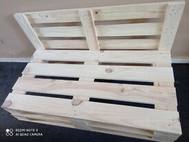 Sofa natural wood + 2 seats smooth