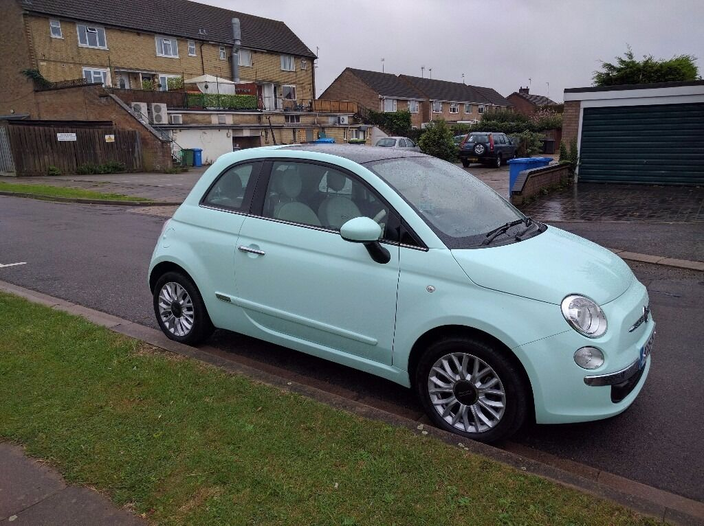 fiat 500 1 2 lounge smooth mint in barton seagrave northamptonshire gumtree. Black Bedroom Furniture Sets. Home Design Ideas