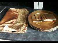 Next gold sparkle table runner / coasters / matts/plates
