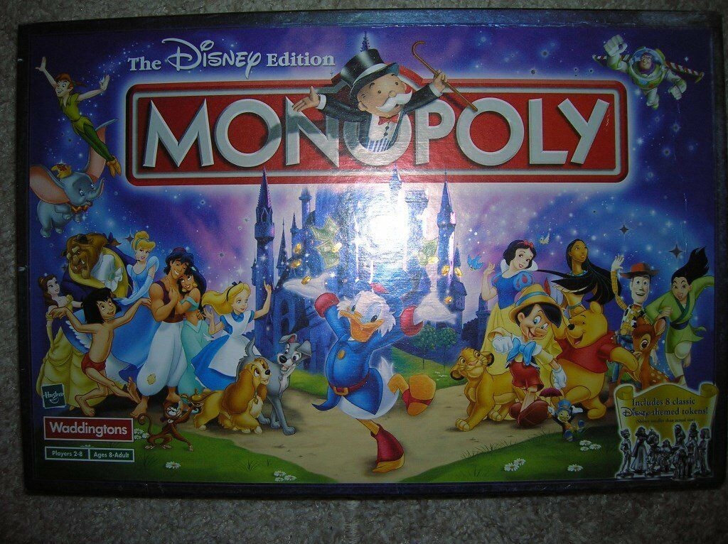 DISNEY MONOPOLY SETin Stockport, ManchesterGumtree - DISNEY VERSION OF THE FAMOUS MONOPOLY GAME. NEVER USED. ITEMS STILL BAGGED AND IN MINT CONDITION. BOX AND ITEMS PERFECT. VERY COLLECTABLE