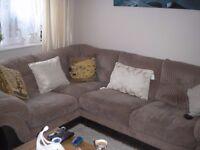 right hand corner unit plus large cuddle chair