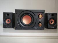 Black and Orange Stereo