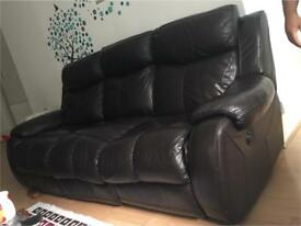 Electric leather sofa 3 pieces in total